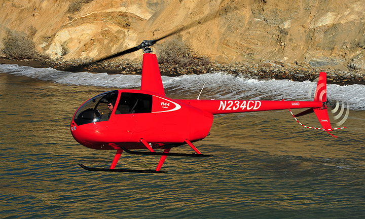 Robinson R44 Cadet, the new 2 seat helicopter with Heli Air