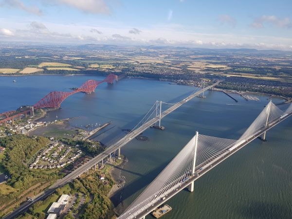 Edinburgh and Three Bridges Tour Scotland Helicopter Flight